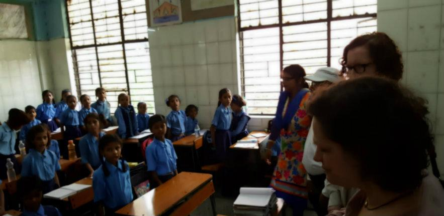 in lesson, learning, school, India