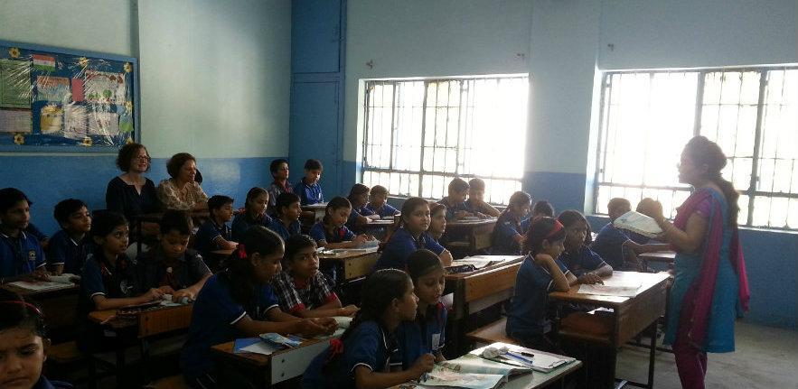 school visit, in lesson, classroom, urban school, learning